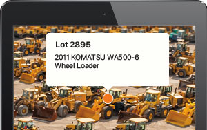 Locate equipment at the auction site with the new Wayfinding feature in the Ritchie Bros. mobile app.