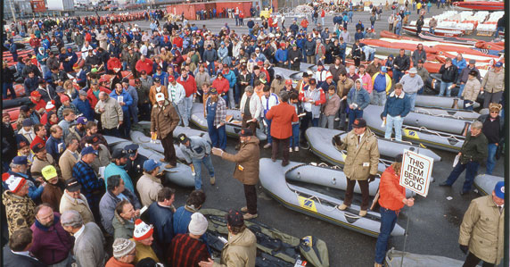 Photo from famous Exxon Valdez auction around 1989