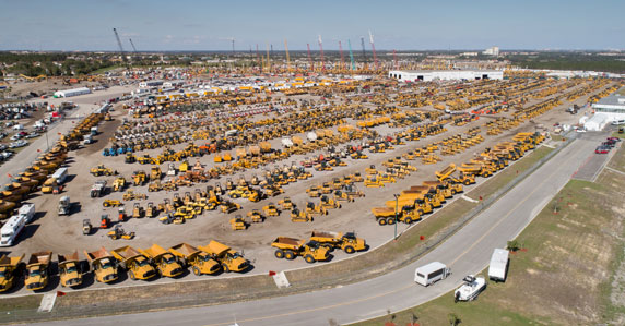 Aerial image of Orlando auction yard in 2018