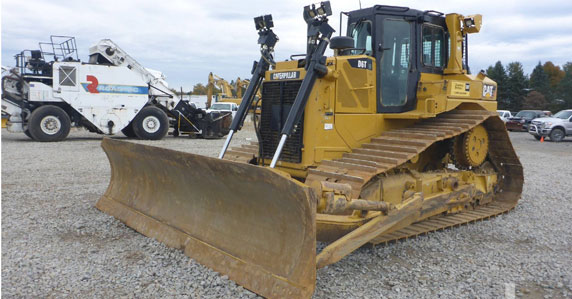 Pittsburgh 2014 Caterpillar D6T crawler tractor sold by Ritchie Bros.