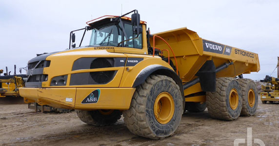 2014 Volvo A40G articulated dump truck sold by Ritchie Bros.