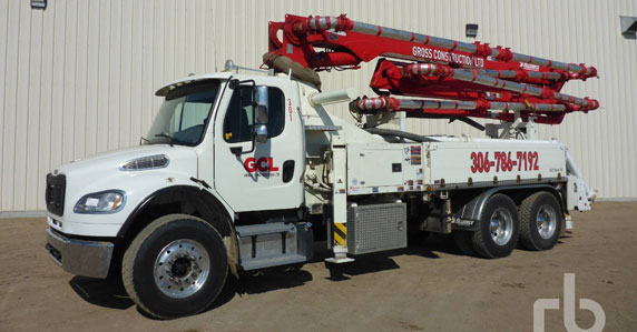 2015 Freightliner M2106 concrete pump truck sold at Ritchie Bros.