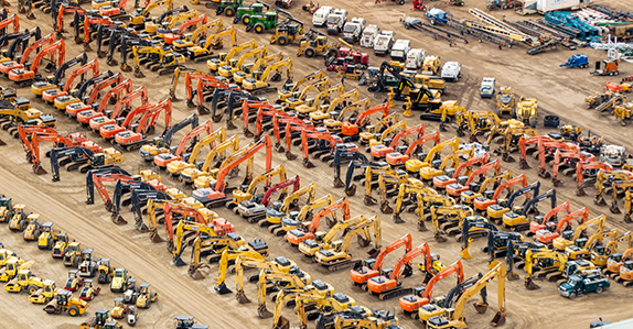 Equipment for sale at Ritchie Bros.' Edmonton auction.