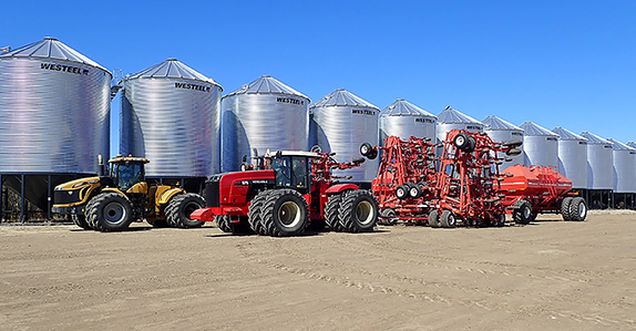 Farm equipment for sale at Ritchie Bros.