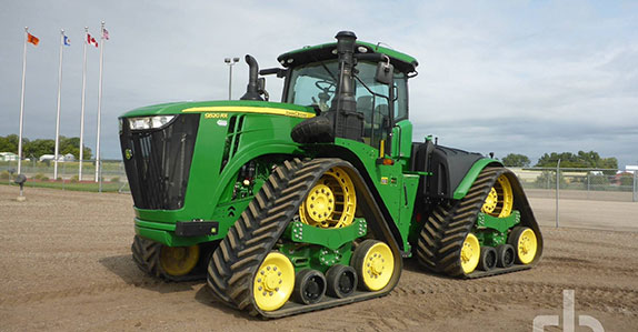 John Deere 9520RX track tractor sold by Ritchie Bros.