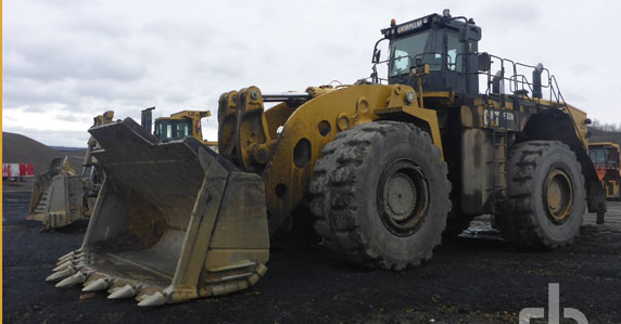 Used Caterpillar 993K wheel loader sold at auction