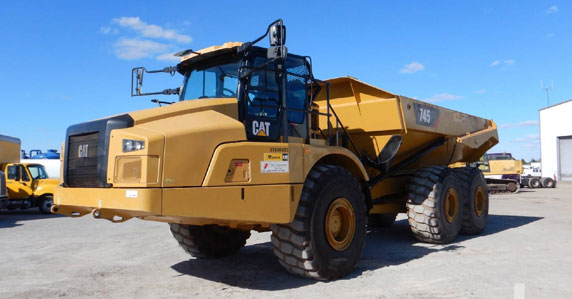 2018 Caterpillar 745 articulated dump trucks for sale