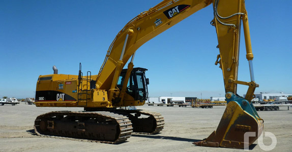 2006 Caterpillar 365CL hydraulic excavator – sold for USD $270,000 at a Ritchie Bros. unreserved auction