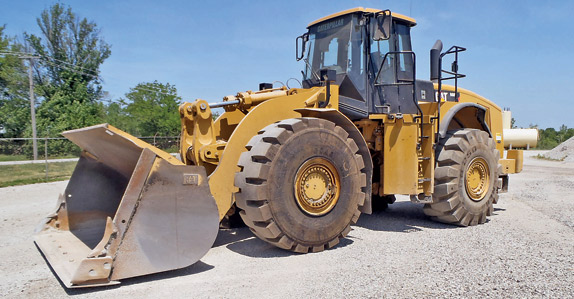2007 Caterpillar 980H wheel loader – sold for USD $282,500 at unreserved auction