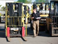 Used forklift for sale at our upcoming auctions